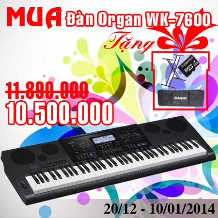 Organ WK7600 khuyen mai giang sinh