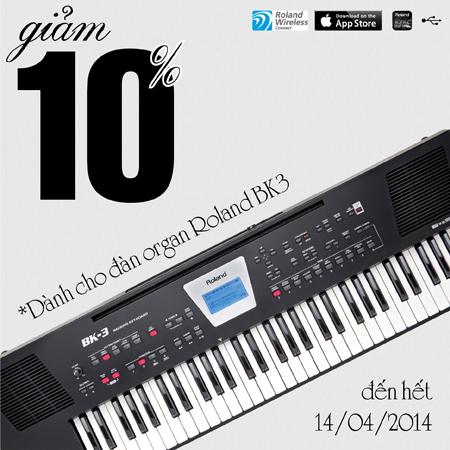 khuyen mai organ Roland BK-3