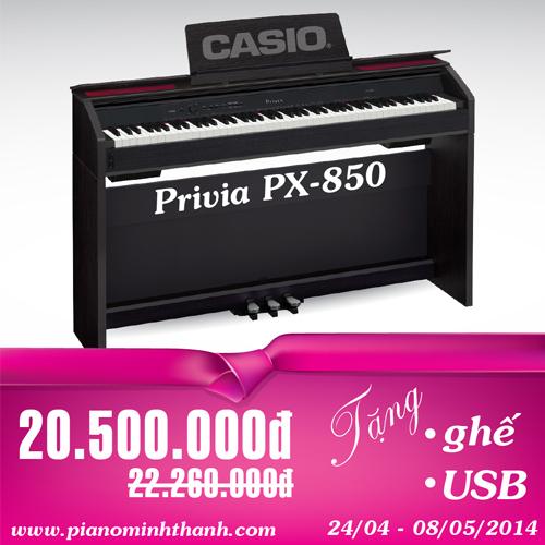 khuyen mai piano dien casio px850