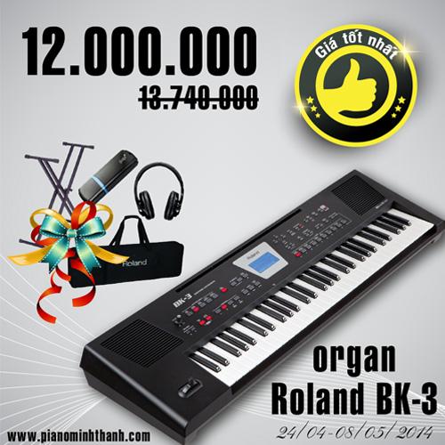 dan organ Roland bk3 khuyen mai
