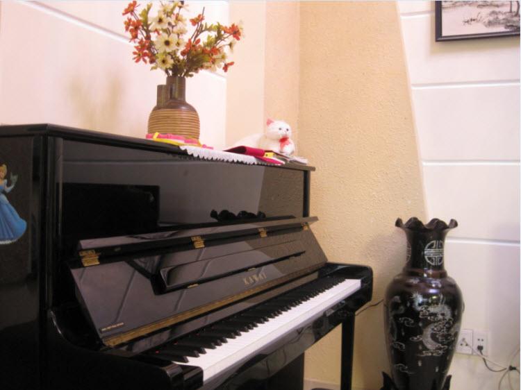 kong dat vat dung binh hoa len dan piano