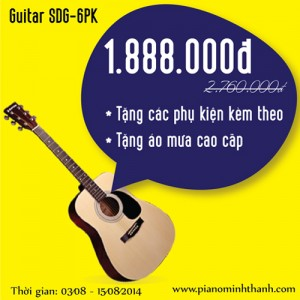 dan guitar suzuki SDG6PK khuyen mai