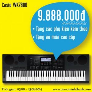 organ Casio WK-7600 khuyen mai