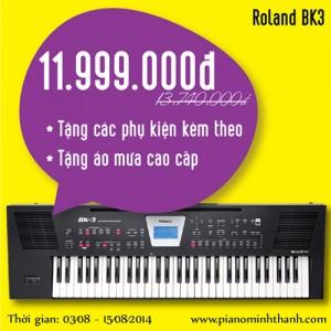 organ Roland BK-3 khuyen mai