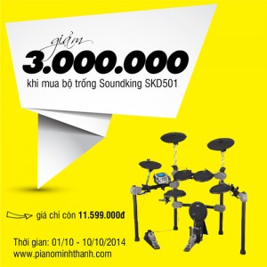 Trống soundking skd501 giảm giá