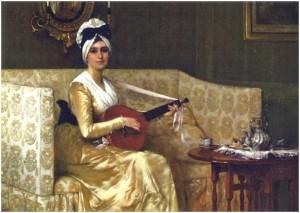 Chân dung bà Millet, tranh của Francis David Millet (1846 - 1912)