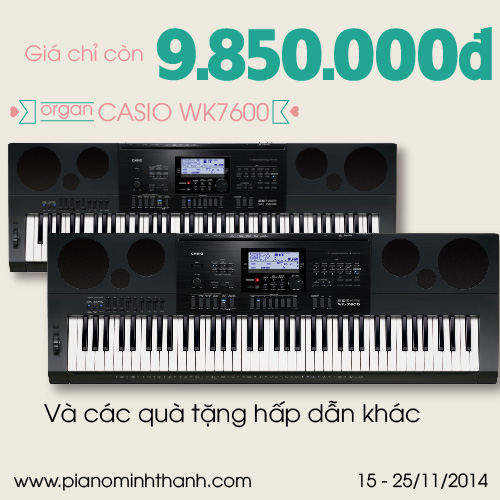 organ Casio WK-7600