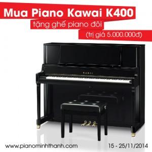 Piano Kawai K400 gia soc