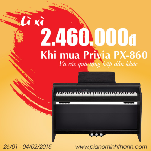 Dan piano dien Casio Privia PX-860
