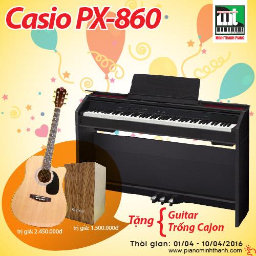 tặng bộ quà tặng 4 triệu khi mua đàn piano điện PX-860