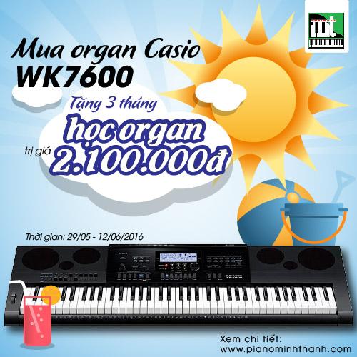 Đàn Organ Casio WK7600