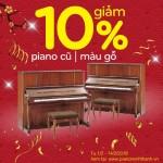 khuyen mai dan piano cu mau go
