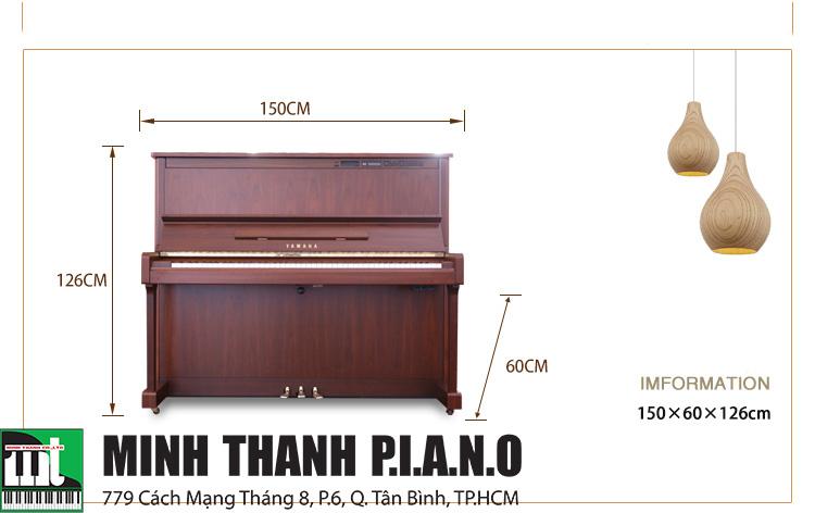 kích thước đàn piano Yamaha MX300R